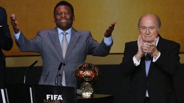 البرازيلي بيليه ينفي خلافة جوزيف بلاتر في الفيفا