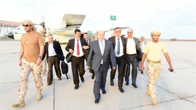 الرئيس اليمني عبدربه منصور هادي يصل لمدينة عدن اليوم الثلاثاء