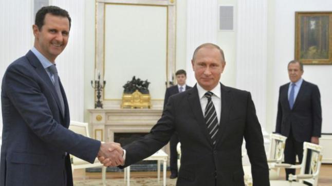 بشار الأسد يلتقي بالرئيس الروسي في موسكو