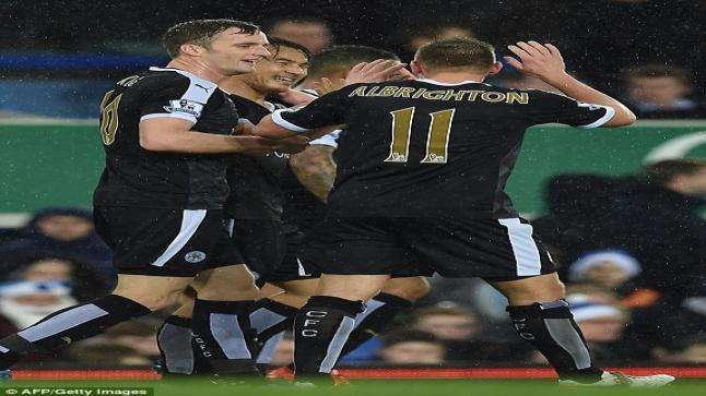 اهداف مباراة إيفرتون 1-3 ليستر سيتي | الدوري الإنجليزي 19/12/2015