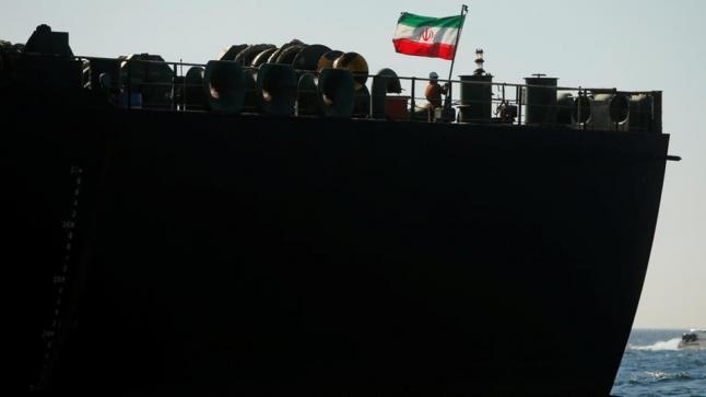ناقلة النفط الإيرانية تغادر ساحل جبل طارق في طريقها إلى ميناء كالاماتا اليوناني