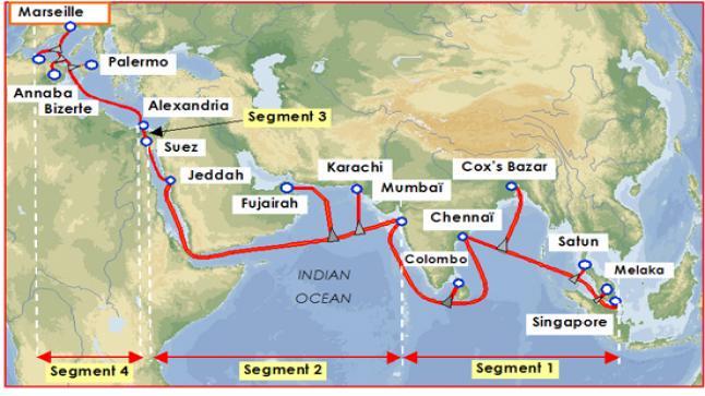 توقف شبه كلي للإنترنت في الجزائر بسبب إنقطاع كابل الانترنت البحري