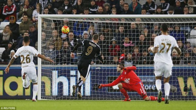 اهداف مباراة سوانزي سيتي 0-3 ليستر سيتي | الدوري الإنجليزي 5/12/2015