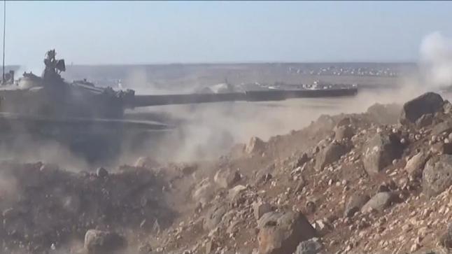 انسحاب مقاتلي فصائل المعارضة السورية المسلحة من مدينة خان شيخون