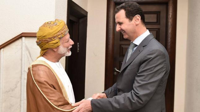 وزير الخارجية العماني يلتقي بالرئيس السوري في دمشق