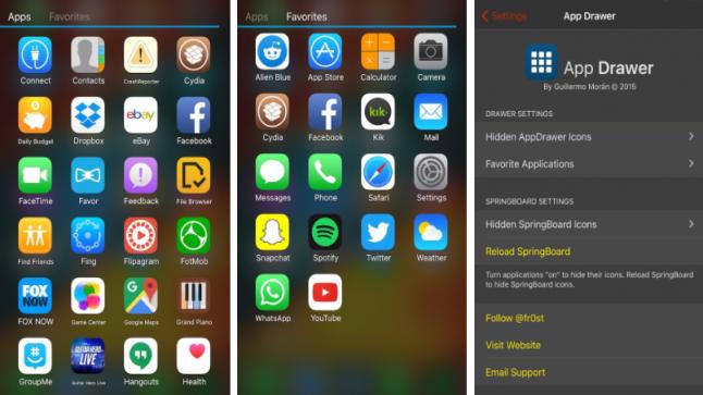 الحصول على تطبيق الأندوريد AppDrawer على الايفون