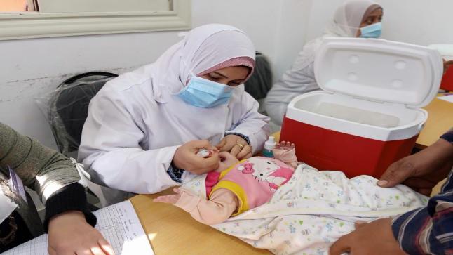 بدء الحملة القومية الثانية للتطعيم ضد شلل الأطفال في مصر