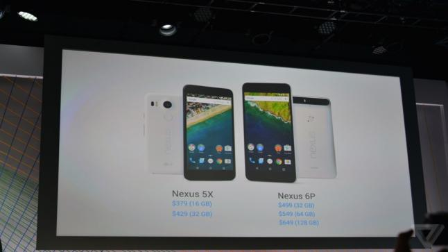 جوجل تعلن رسمياً عن هاتفي Nexus 6P و Nexus 5X